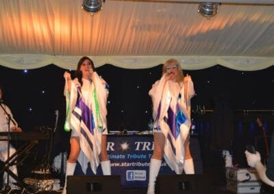 Singing a well known Abba song
