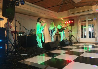 ABBA Rebjorn playing music on stage