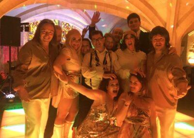 ABBA Rebjorn on the dancefloor with happy guests