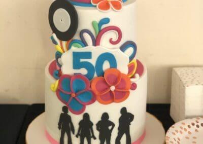 An Abba themed wedding cake